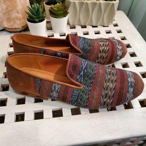 Taysha Handmade Southwestern Leather Smoking Shoes